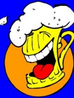 lachender Bierkrug